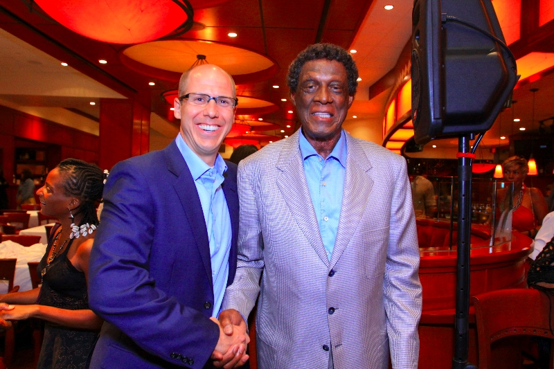 Barry Spencer with Elgin Baylor